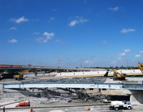 Demolition of I-595/Turnpike Ramp