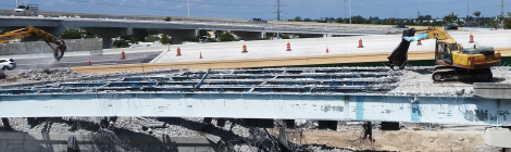 Demolition of I-595/Turnpike Ramp