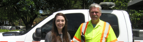 Road Ranger helps FDOT family