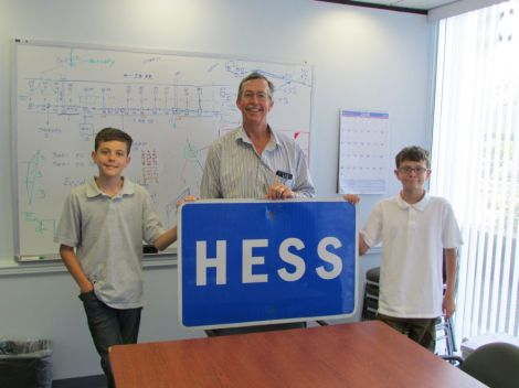 Hess Road Sign