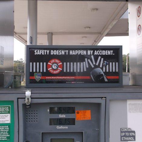 Alert Today Alive Tomorrow media on gas pump