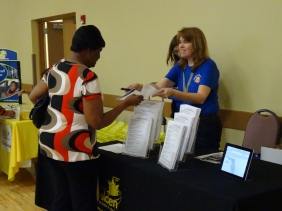 """""""Find a Ride"""" table at Older Driver Safety Awareness Week"""