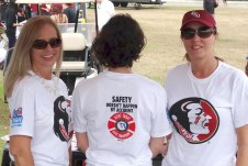 Students sport shirts featuring Alert Today, Alive Tomorrow on back and Put It Down on sleeve