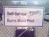 New Motor Pool Signage