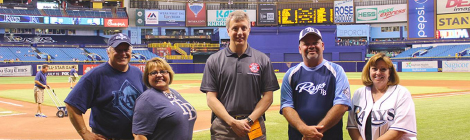 District Seven Secretary Paul Steinman Tosses First Pitch