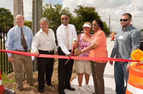 NW 57 Avenue Sidewalk Ribbon Cutting
