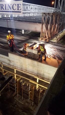 I-75/University Parkway ACROW Temporary Bridge Launch